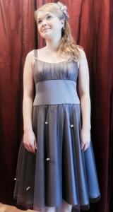 Dornröschenkleid für die Modenschau in der Scheune